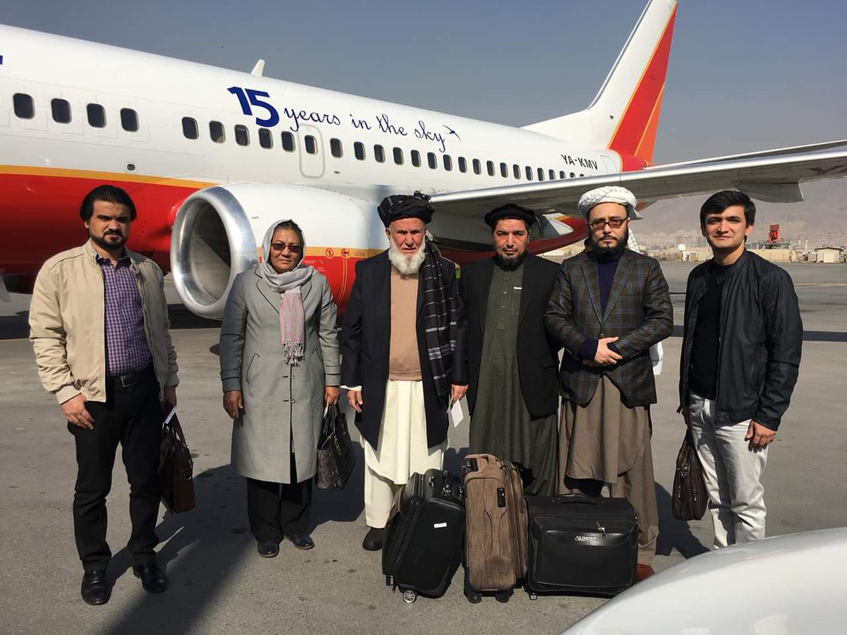 On our way in @AfghanistanHPC delegation for #Moscow meeting. #PeaceMeeting @IhsanTaheri