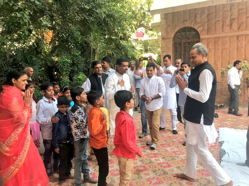 Met with the kids in #Jodhpur on the occasion of #Diwali