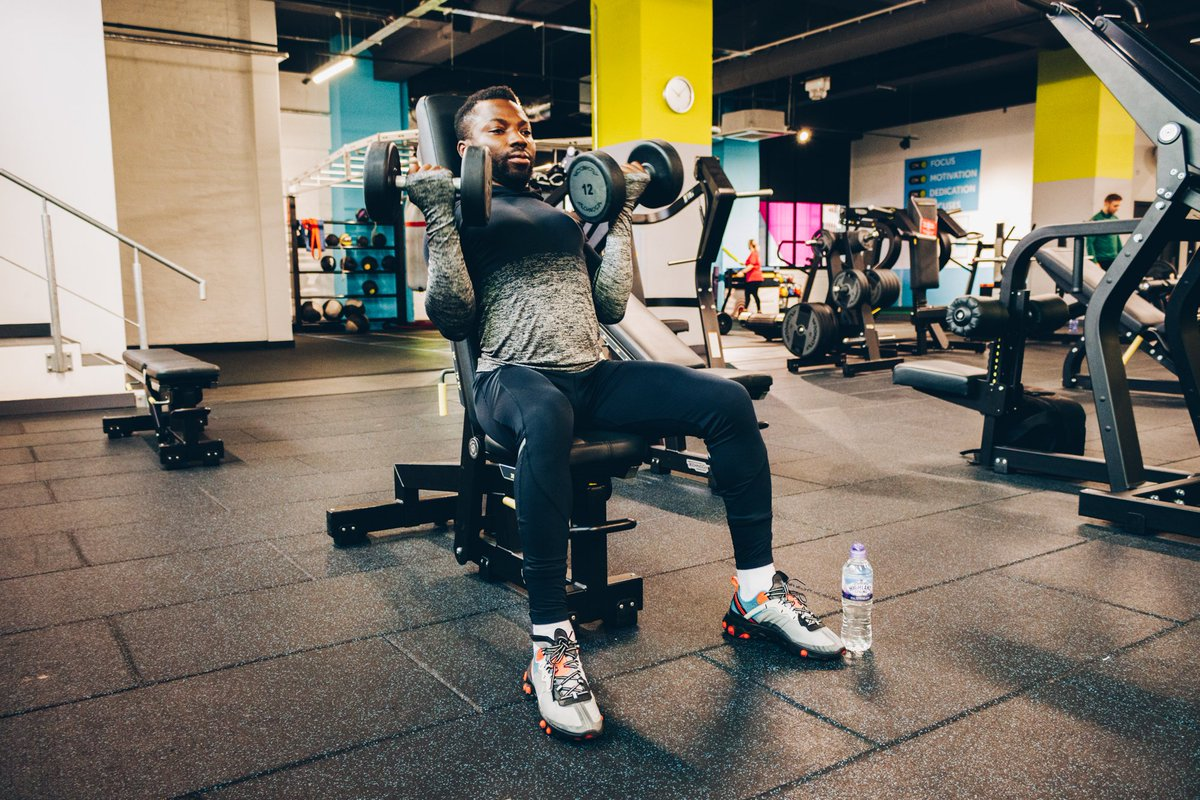Thanks to @sweatunion in Glasgow for letting us in to do a client shoot yesterday. We're glad we only had to lift the camera!   [Model: Elvis Nweke]