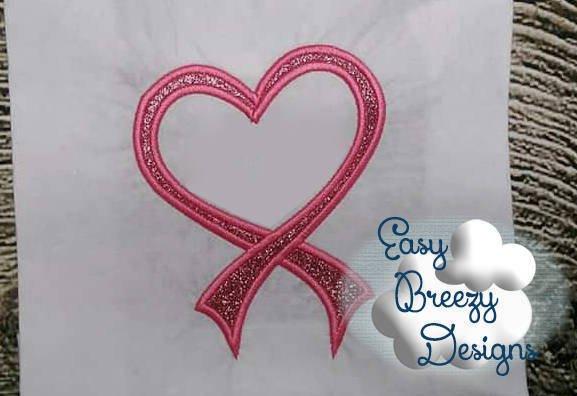 Heart mustache applique machine embroidery design heartstache