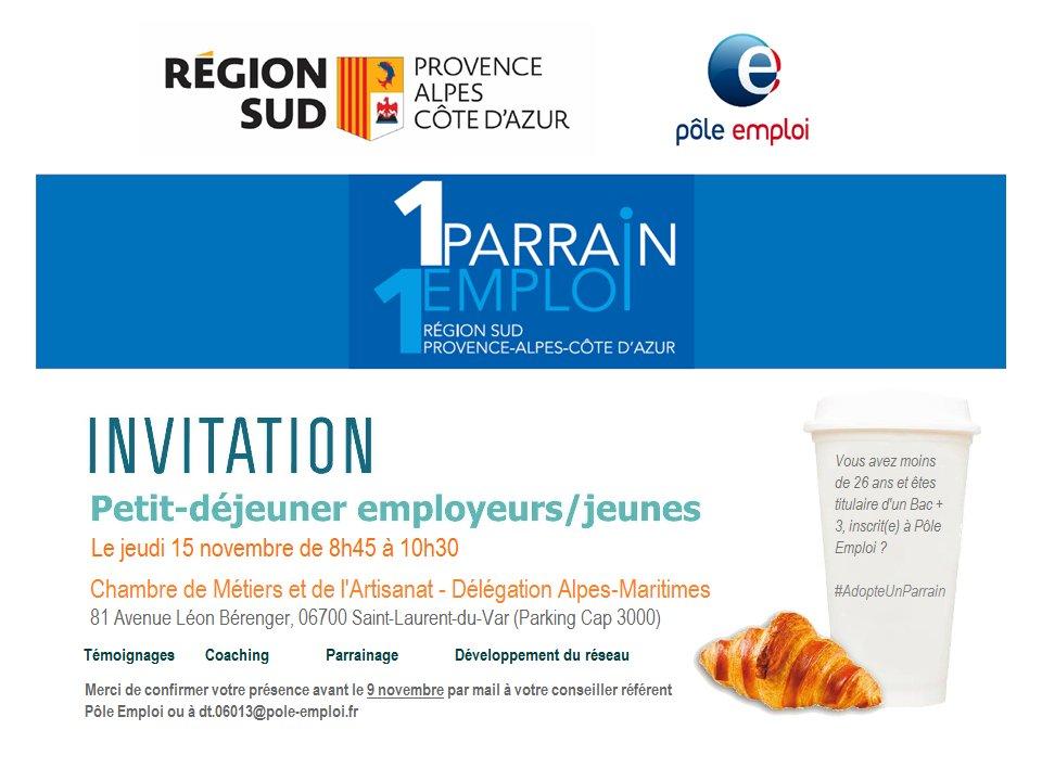 Region Sud On Twitter Dans Le Cadre De La Campagne 1 Parrain 1 Emploi La Region Provence Alpes Cote D Azur S Associe Au Pole Emploi Et Vous Invite Le Jeudi 15 Novembre A