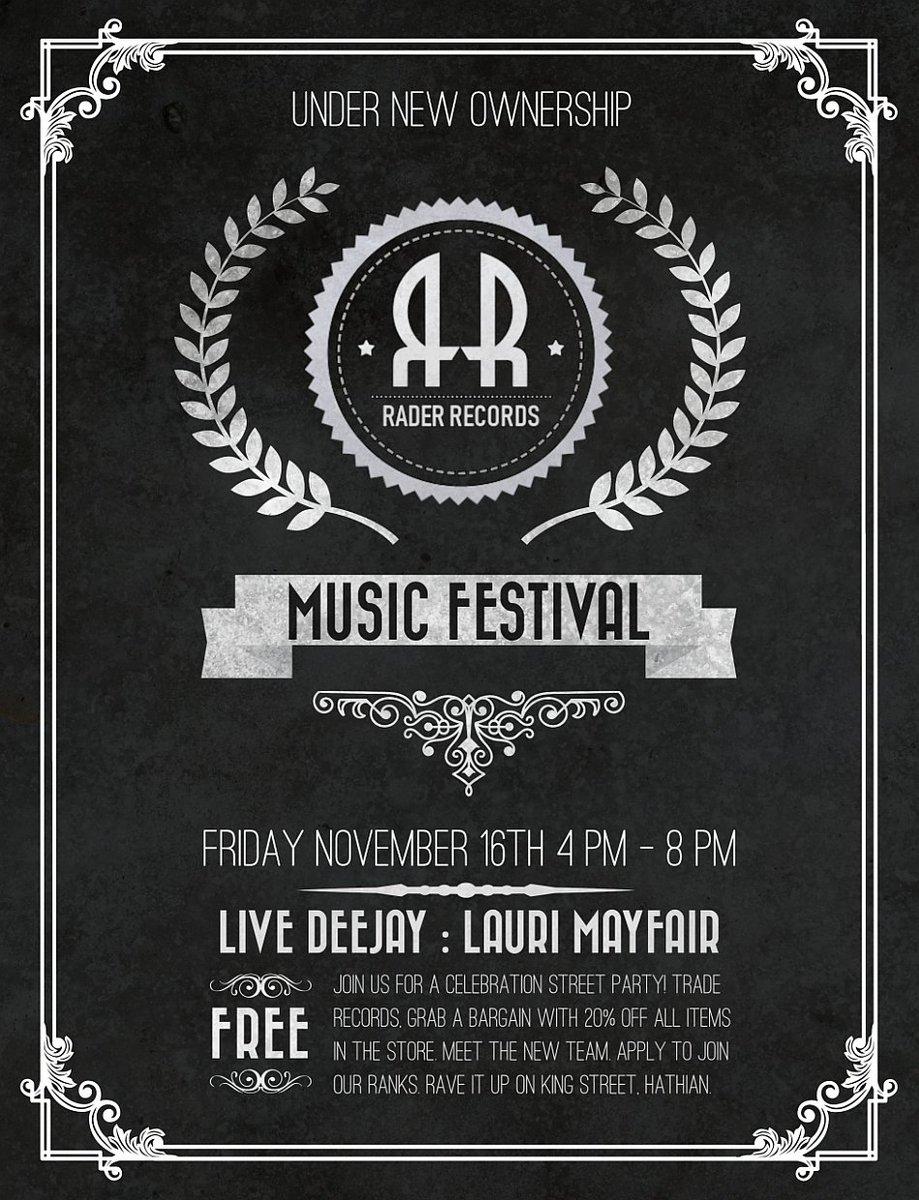 Music Festival at Rader Records