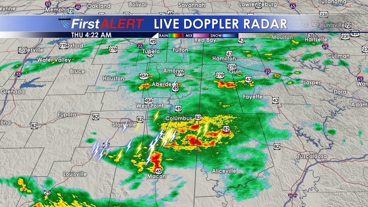 Wcbi Weather On Twitter Anybody Woken Up By Thunder Early This
