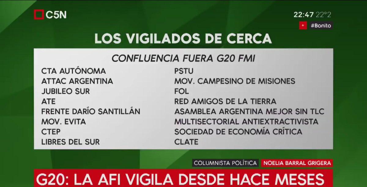 #30N #FueraG20  #NoG20 #G20Argentina #FueraFMI  #ATE #CTAA #CLATE