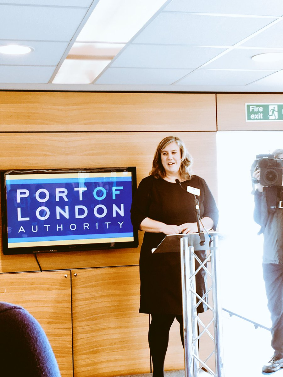Great to hear from @Heidi_LDN at the @LondonPortAuth hydrographic boat naming this morning #London #environment