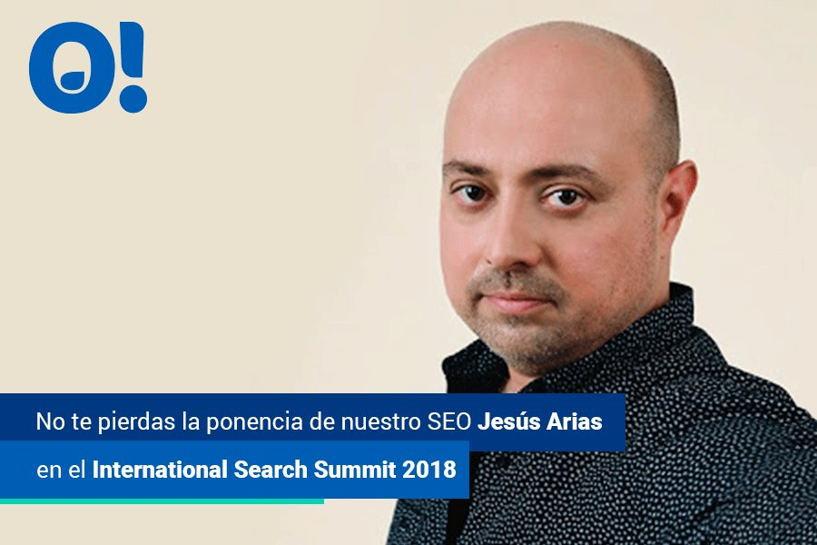 No te pierdas el próximo 15 de noviembre la ponencia de nuestro SEO Jesús Arias en el International Search Sumit 2018 en Barcelona. Si te interesa asistir, compra tu entrada aquí https://t.co/AEtMZWljcc https://t.co/d4BkHEGaPu