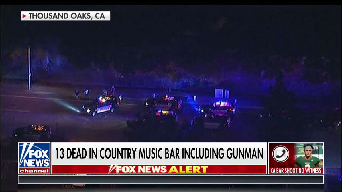 13 dead in country music bar including gunman  https://fxn.ws/2RF2TWf