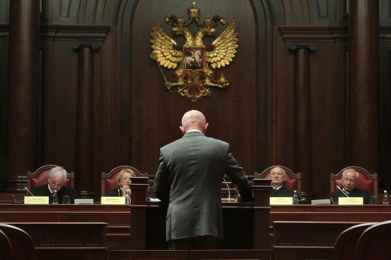 на судебном заседании