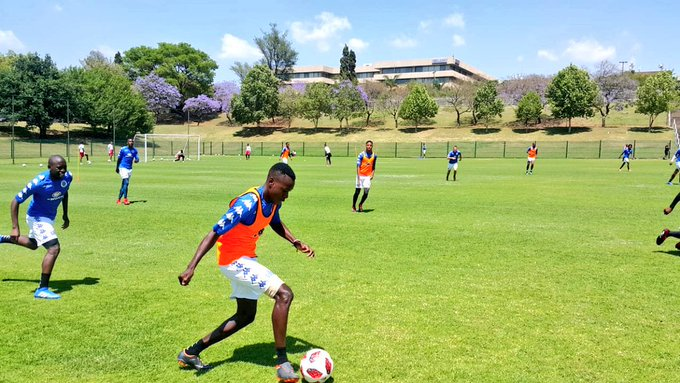 Training session completed ahead of our #AbsaPrem clash which takes place this Saturday evening against Free State Stars ⚽️🙌 #ForeverUnited Photo