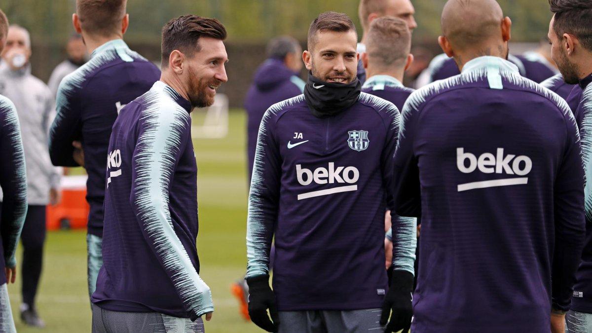 Entrenamiento del Barça (Foto: FC Barcelona).