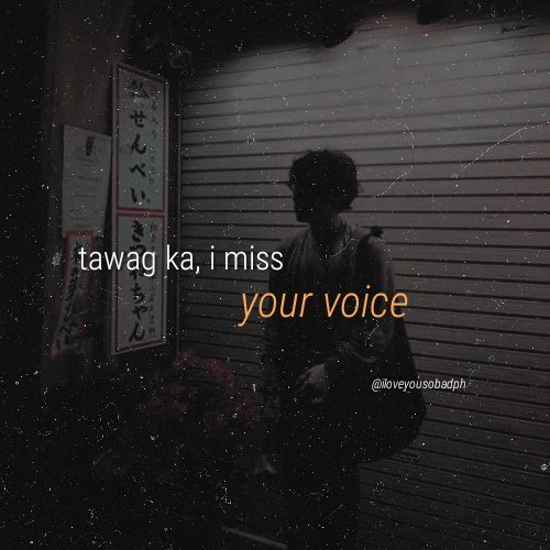 your voice 💕