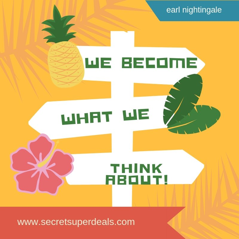 We Become What We Think About http://www.secretsuperdeals.com  #ThinkThings