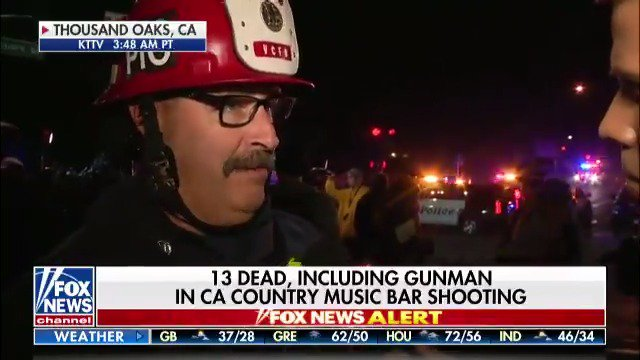 "Ventura County Fire Department Captain Stan Ziegler: ""Hundreds of first responders responded initially to the scene.""  https://fxn.ws/2Da13Zx"