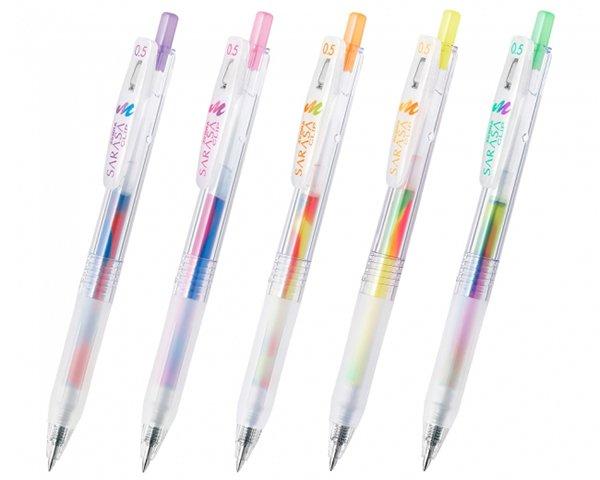 【懐かしい】廃番商品を応用…「マーブルカラー」のボールペン新登場   ゼブラが1999年に発売した「スーパーマーブル」がモチーフ。3色のインクが混ざり、ランダムに色合いが変わります。