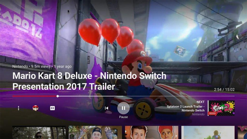 La aplicación de YouTube ya está disponible para Nintendo Switch