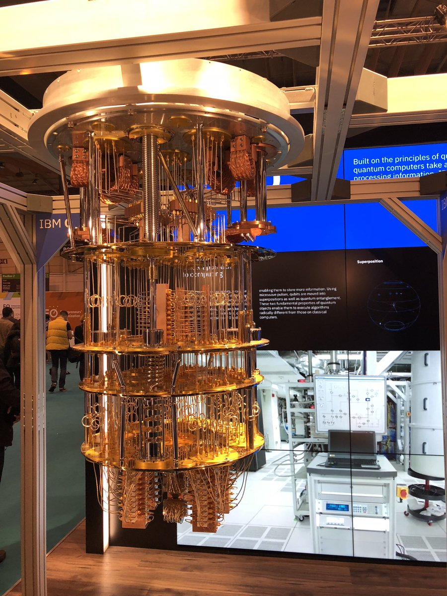Didn't know #quantum computers are a #steampunk thing. #IBMQ #WebSummit