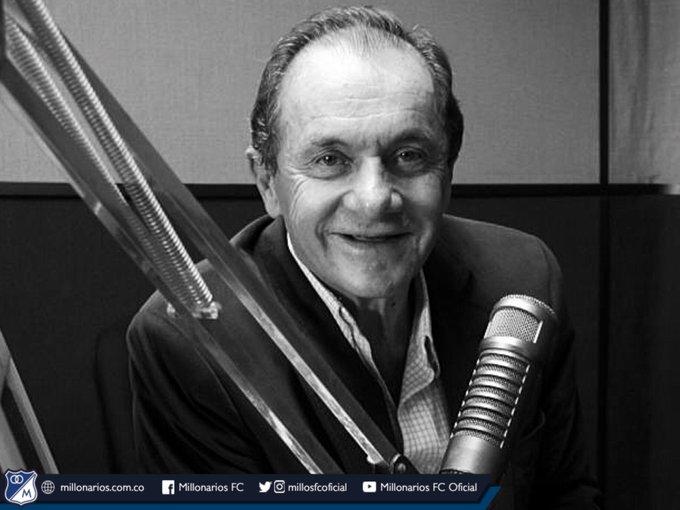 Millonarios FC lamenta el fallecimiento de Javier Giraldo Neira, decano del periodismo deportivo en nuestro país. Fortaleza para su familia y todas nuestras oraciones por su alma. QEPD Photo