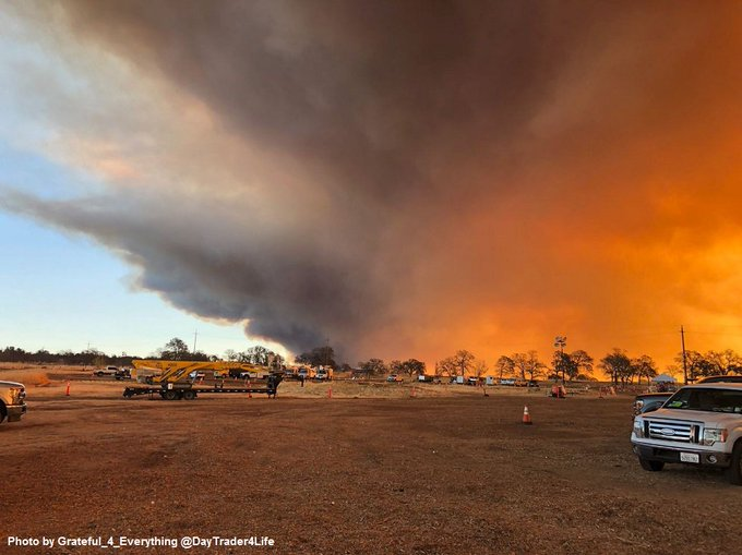 #CampFire [update] off Camp Creek Road and Pulga Road, Jarbo Gap off Highway 70 in the Feather River Canyon is now 5,000 acres. Evacuations in progress. Photo