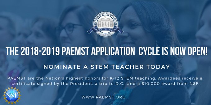 What a best way to celebrate #NationalStemDay than nominating an outstanding, 7-12th grade #STEM educator: Photo