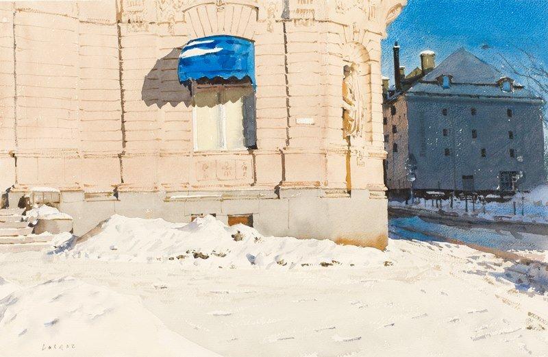 Watercolor city Stanislaw Zoladz(Polish,born 1952)