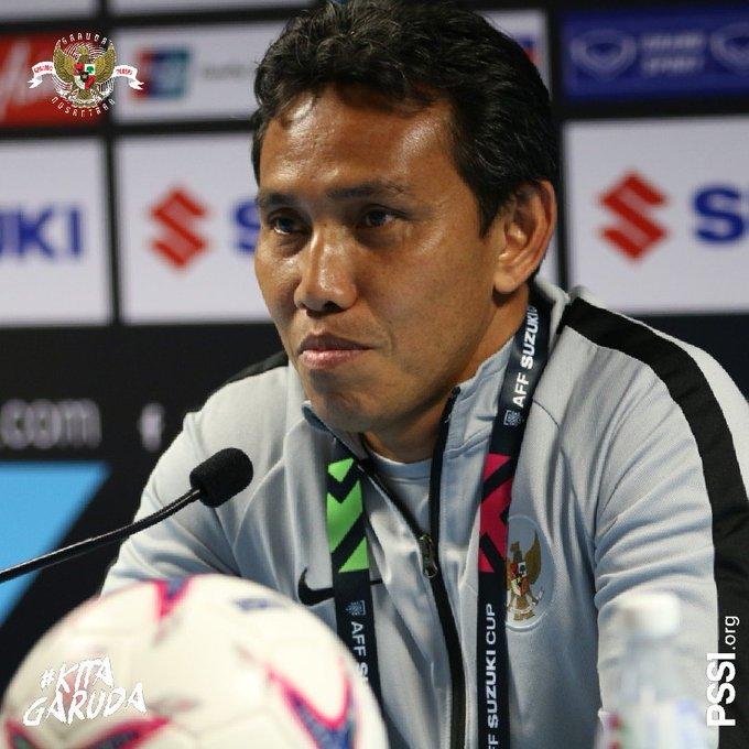 Pelatih Timnas Indonesia, Bima Sakti, mengatakan, telah memotivasi para pemainnya agar besok tampil seperti bermain di kandang. #PSSINow #KitaGaruda Photo