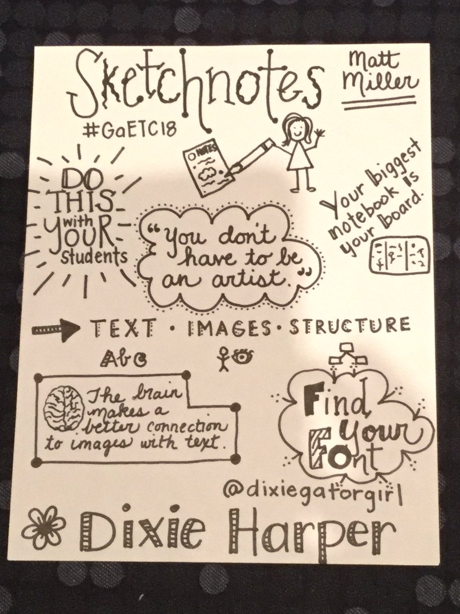 I met the Sketchnote challenge by @jmattmiller from @DitchThatTxtbk at #GaETC18