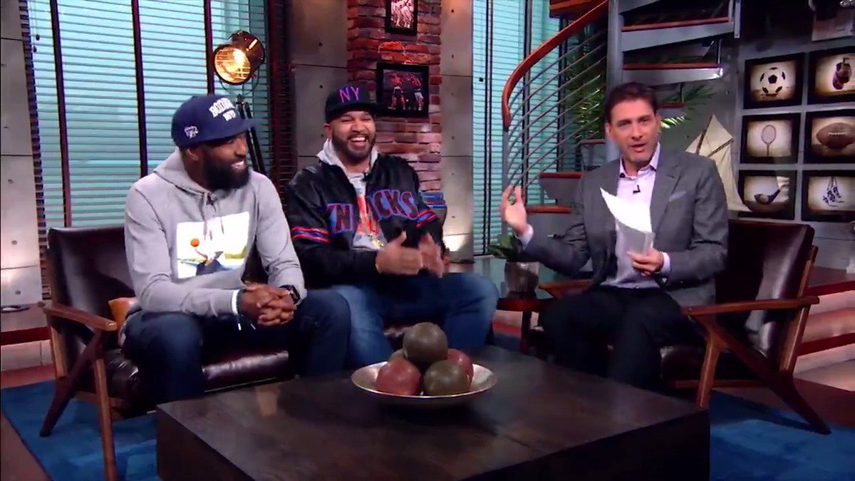 When three Bronx natives get together, you know it's going to be a good time. @espngreeny @THEKIDMERO @desusnice