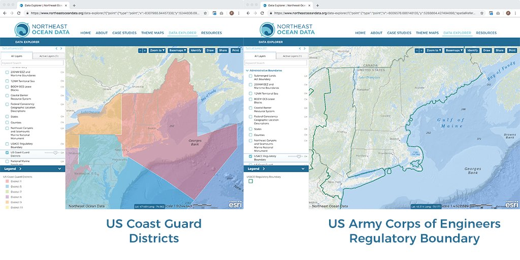 Northeast Ocean Data On Twitter New On Thenortheast Ocean Data - Us-corps-of-engineers-district-map