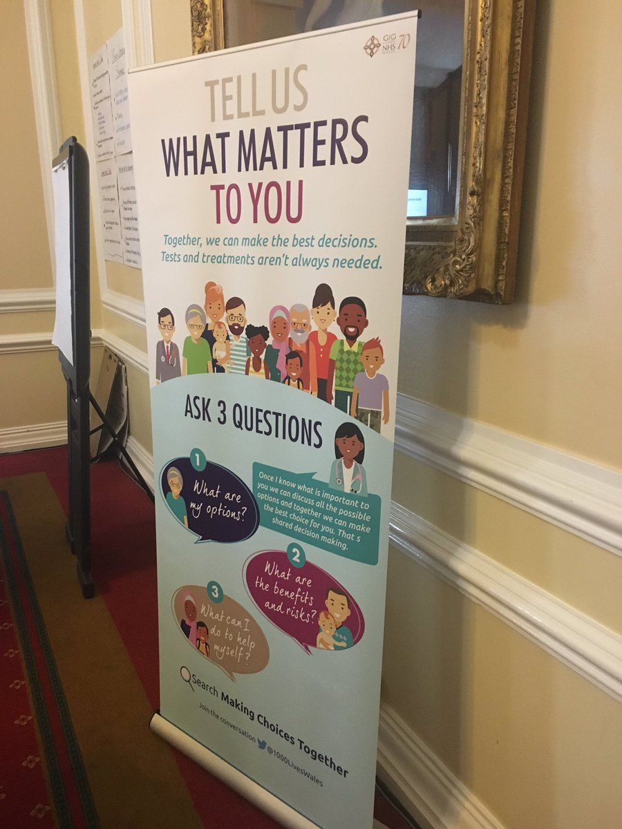 A great movement to encourage open conversations between patients and their clinicians so that decisions can be made together @1000LivesWales #makingchoicestogether