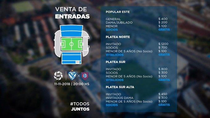 🎫 Este domingo #JuegaVélez y vos tenés que estar en el Estadio José Amalfitani para alentar al Fortín. Conocé la venta de entradas. Foto