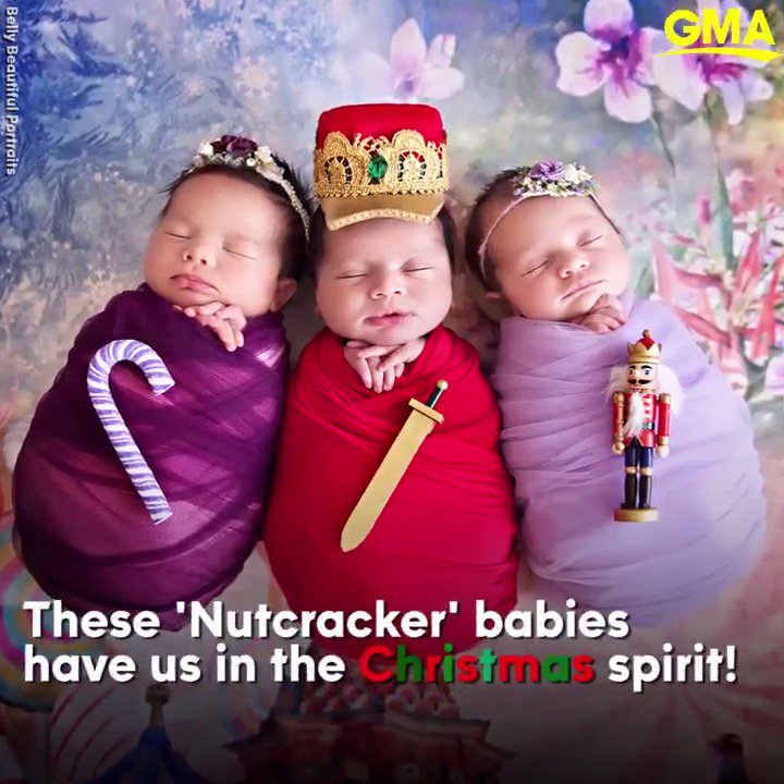 These adorable 'Nutcracker' babies are making us get into the Christmas spirit early! https://t.co/CYMm1k0ZHY https://t.co/LyDO3USwrJ