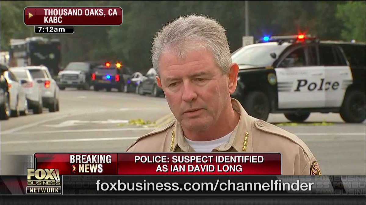 BREAKING: Police identify gunman who opened fire inside California bar, killing 12 fxn.ws/2DtzaN2