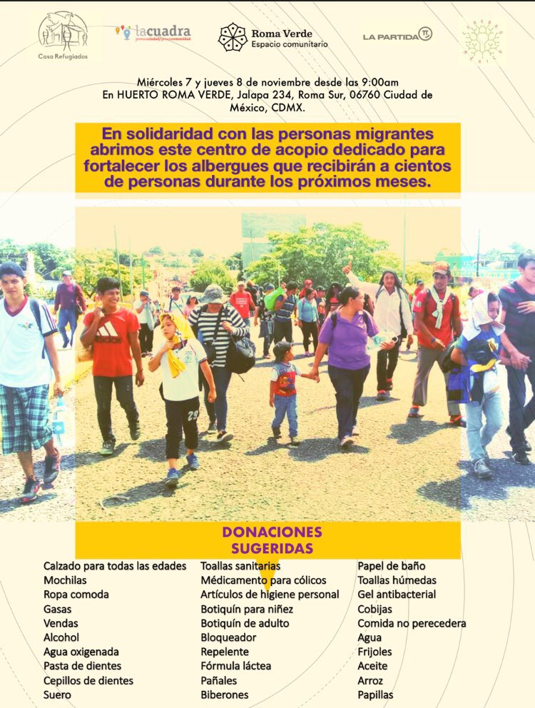acopiocaravanamigrante hashtag on Twitter