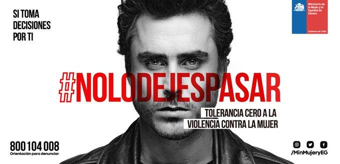 En la lucha contra la violencia, nadie sobra. Todos estamos llamados a construir un Chile + humano, + solidario y sin violencia. Para que logremos TOLERANCIA CERO a la violencia contra la mujer, infórmate y difunde #NoLoDejesPasar #ChileLoRespetamosTodos Photo