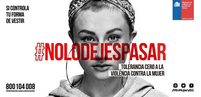 🖐🏼En la lucha contra la violencia, nadie sobra. Todos estamos llamados a construir un Chile más humano, más solidario y sin violencia. Para que logremos TOLERANCIA CERO a la violencia contra la mujer, infórmate y difunde la campaña #NoLoDejesPasar Photo
