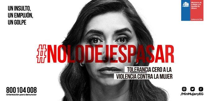 Mujeres, hombres, papás, hermanos, líderes de opinión, empresarios, políticos. TODOS, todos estamos llamados a construir un Chile sin violencia contra las mujeres. Infórmate más en NoLoDejesPasar #ChileLoRespetamosTodos Photo