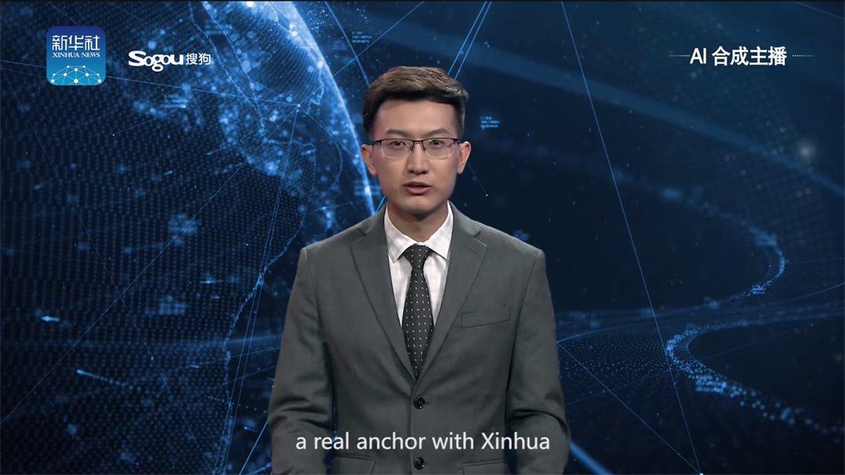 В Китае заменяют телеведущих ИИ-симуляцией https://t.co/OElxDPHkRD