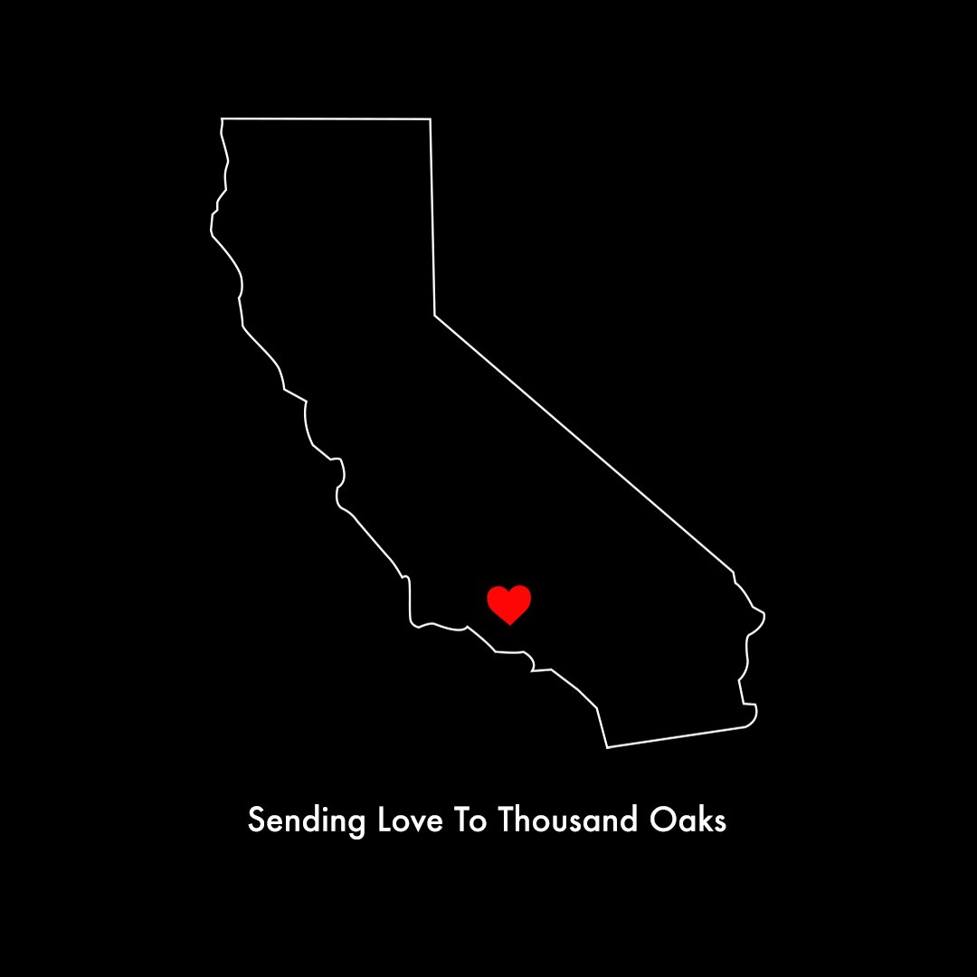 Our hearts are with you ❤️ #ThousandOaks