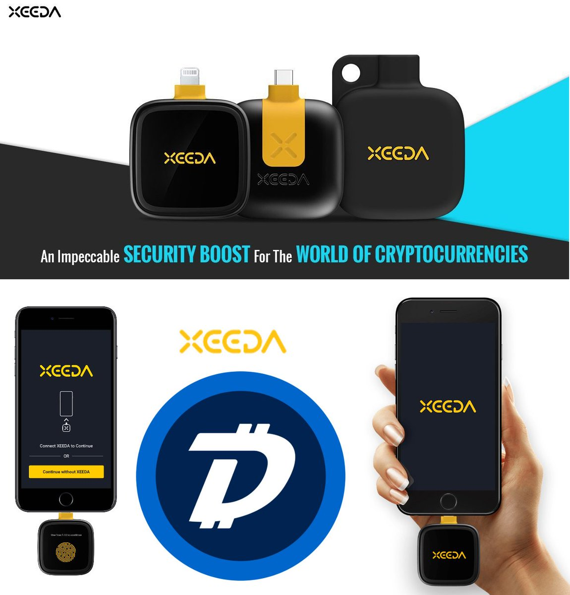 We are excited to have #DigiByte integrated into the @xeedaofficial app and hardware wallet on their upcoming product expected to launch in early 2019!   https://www. dgbat.org/2018/11/08/dig ibyte-to-be-integrated-with-xeeda-hardware/ &nbsp; … <br>http://pic.twitter.com/JlINtI3HgX
