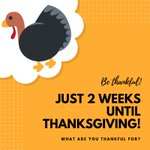 With Thanksgiving just two weeks away, share with us what you are thankful for. #HPU365 #HPUFamily #HPU2021 #HPU2022