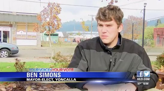 Oregon town elects 18-year-old as mayor https://t.co/hti3t4d3Ya https://t.co/pQ5rMe5r4o