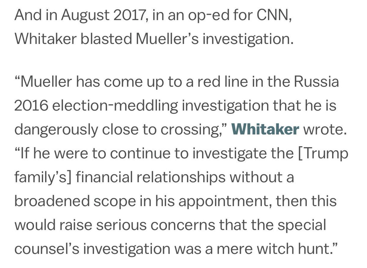 I Wish I Could have Made a Bet On being able to find Trumps Pick for Att. Gen. Bashing the Russia Investigation... Matt Whitaker ~ @realDonaldTrump Puppet Everyone! https://t.co/ek95rWzkId