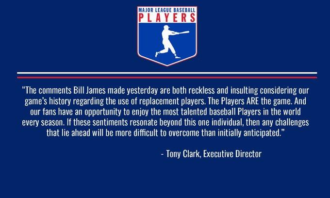 Executive Director Tony Clark's regarding Bill James' Photo
