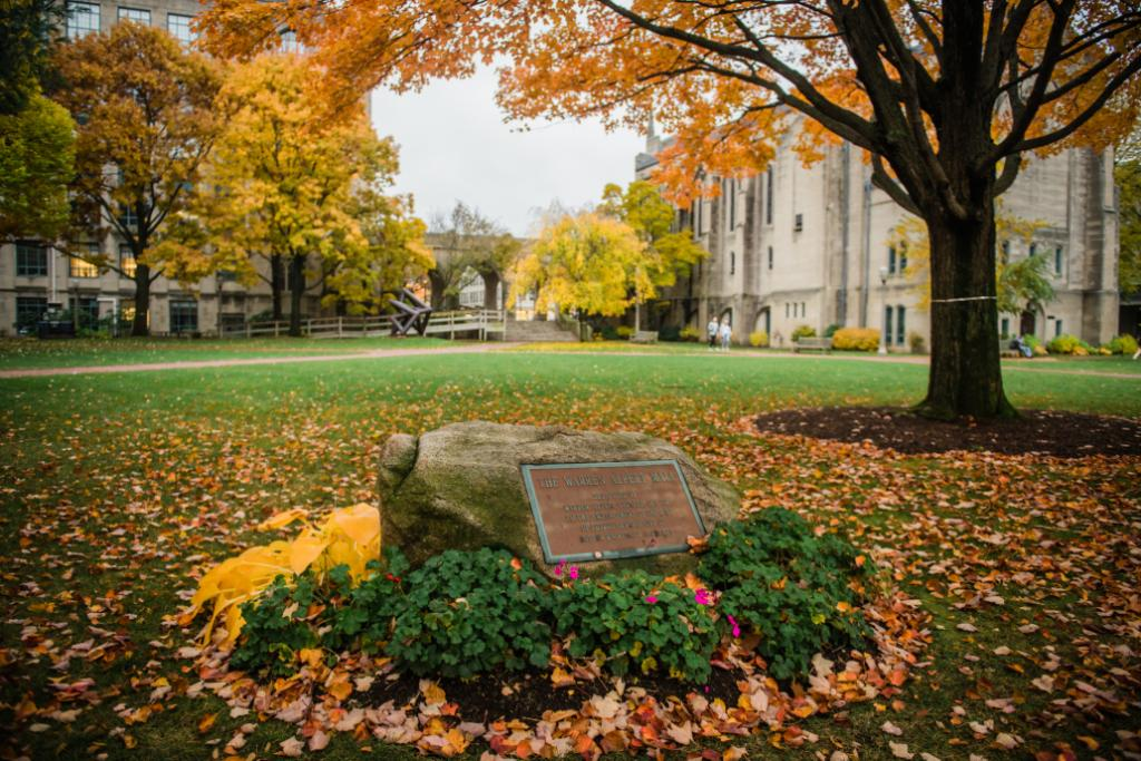 As the seasons change, the BU Beach is transformed into a stunning fall landscape. 🍁