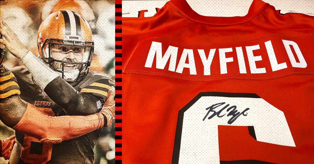 Enter for a chance to win a jersey autographed by Baker Mayfield!  �� https://t.co/eLp5ih2g1F https://t.co/AFnRbZroKl