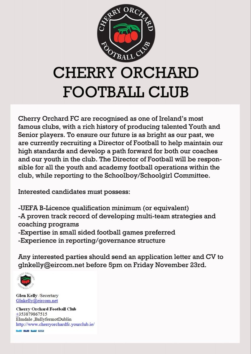 Cherry Orchard FC on Twitter: \