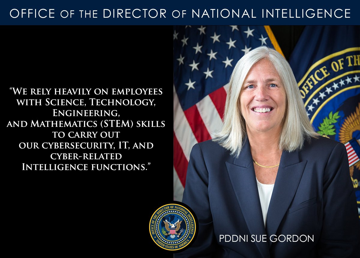 Office of the DNI's photo on #NationalSTEMDay