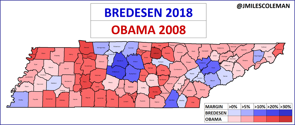 This Map Shows How Badly Phil Bredesen Underperformed
