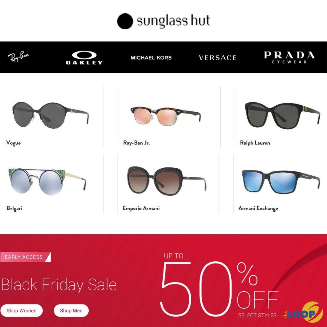 776001ef9e Early Black Friday Sale at  sunglasshut! Visit them and choose from  designer brands like Prada