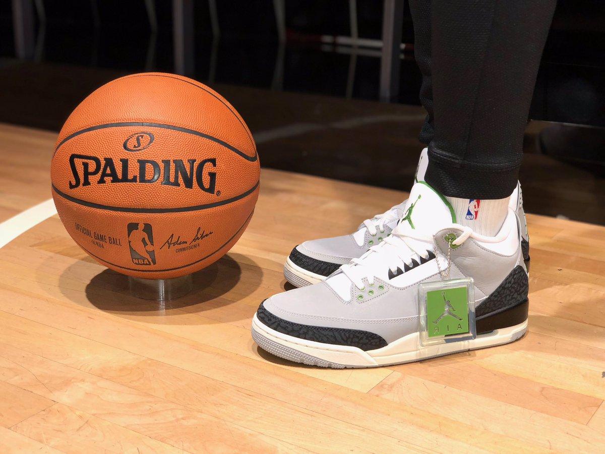 "Shoe Launch: Air Jordan 3 Chlorohyll"" theme transitions to Hatfield's 1988 design. Doors open at 10am Saturday, November 10th @NBASTORE NYC!"
